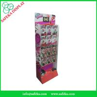 Wholesale Advertising Portable printed corrugated merchandise shelf pop&pos display for toys with hooks from china suppliers