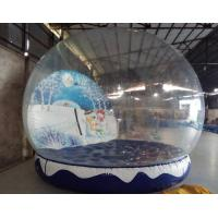 Buy cheap Inflatable Christmas Snow Globe , PVC Tarpaulin Inflatable Christmas Ball for from wholesalers