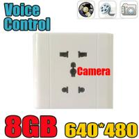 Wholesale Home Security Wall Socket Outlet DVR Spy Hidden Camera Surveillance Audio Video Recorder from china suppliers