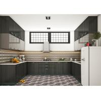 Wholesale PRIMA Customized MDF Kitchen Cabinets Modern Style With Quartz Stone Countertop from china suppliers
