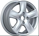 Wholesale Chrome 4 Hole 14 Inch Alloy Wheels with 100 PCD AND 45 ET for Car KIN-256 from china suppliers