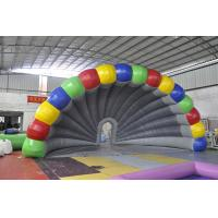 Wholesale Rainbow Inflatable Tent , Colorful PVC Inflatable Stage Tent For Festival from china suppliers