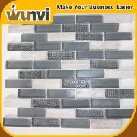 Wholesale Glass and Stone Strip Premium Mosaic Tiles,kitchens with backsplash tiles from china suppliers