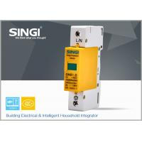Wholesale 1 Pole Yellow Surge protector Device , Solar / DC lightning protection system from china suppliers