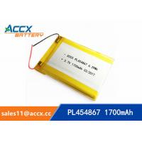 Wholesale 3.7V 1700mAh 454867 pl454867 lithium polymer battery li-ion rechargeable battery for digital products from china suppliers