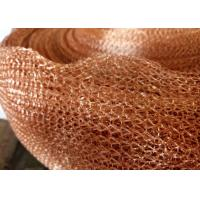 Wholesale Purple Copper Wire Mesh Customized 4 Line Wire Knitted Netting 10cm Width from china suppliers