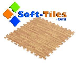 China Soft Wood Grain Foam Floor Mat on sale