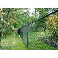 PVC Coated Wire Netting Fence / Green Wire Fencing Chain Link For Zoo Protection