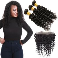 Wholesale Genuine 360 Deep Wave Frontal , 24 Inch 360 Deep Wave Frontal No Split Hair from china suppliers
