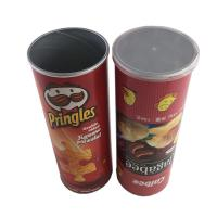 China Potato Chips Packing Food Grade Tube Packaging Kraft Paper Cylinders for sale