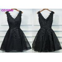 Wholesale Homecoming Black Lace Cocktail Dress / Beach Sleeveless Short Cocktail Dresses from china suppliers