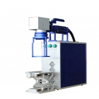 China Portable Handheld model fiber laser marking/engraving and printing machine for stainless steel/metal bottle on sale
