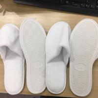 Wholesale Luxury Personalized Closed Toe Hotel Slippers With Hard Plastic Sole from china suppliers