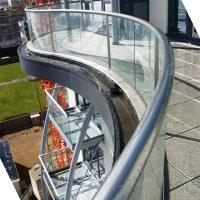 Wholesale Arched Tempered Glass Railing / Aluminum U Channel Railing / Curved Glass Balustrade from china suppliers
