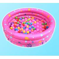 Wholesale Dots Printed Inflatable Above Ground Pools , Blow Up Swimming Pools With 3 Rings Circle from china suppliers