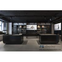 Wholesale Korea Makeup room interior design Black ash Wood display wall with Shelves and Retail store counters from china suppliers