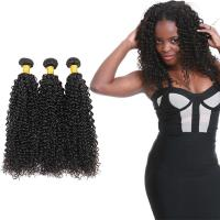 Wholesale 100 Unprocessed Virgin Curly Hair Bundles Natural Hair Line No Shedding from china suppliers