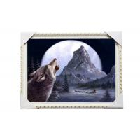 Wholesale CMYK 3D Wolves Image Lenticular 3d Pictures PS Frame For Office Decoration from china suppliers