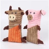 China Lovely designed dog products pig and bull stuffed dog chew toy on sale