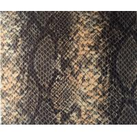 Wholesale Transference Resistance Stereo PU Snakeskin leather Vinyl Fabric For Shoes from china suppliers