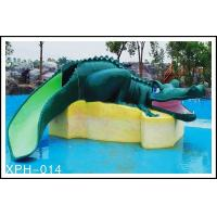 Water Park Equipment Crocodile Slide , Small Water Pool Slides For Kids