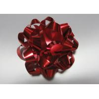 "Quality Colourful 4"" dia 24 loops Star Bow with satin , polyester , organza for gift basket for sale"