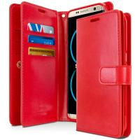 Buy cheap PU Cell Phone Leather Cases Double Sided Wallet TPU Shockproof Cover for Samsung S8 from Wholesalers