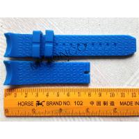 China Various Colors Fashion Silicone Watch Band Blue color for 16mm 20mm 22mm on sale