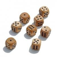 Wholesale natural wooden dice wood game dice 16mm from china suppliers