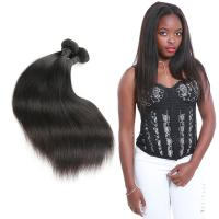 Wholesale Real 3 Bundles Of Straight Virgin Hair Weave / Straight Human Hair Extensions from china suppliers
