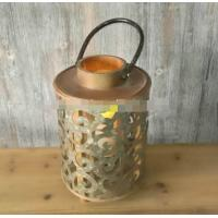 China handicraft wedding home use solar metal hanging lamp solar candle light solar vintage antique wooden lantern for candle on sale