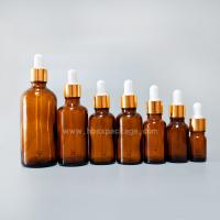 Quality 5ml 15ml 20ml 30ml 50ml 100ml amber, green, clear, blue, small glass essential oil bottle with dropper for sale