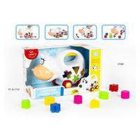 Wholesale Educational Shape Sorting Matching Baby Blocks Toys Car Set 9Pcs PP Plastic Material from china suppliers