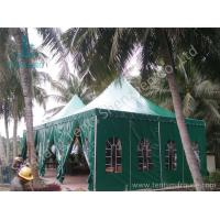Quality Green PVC Fabric Cover Anodized Aluminum Framed High Peak Tent for sale