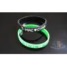 Interchangeable Custom Plastic Bracelets Promotional Silicone Bracelets 200 * 12 * 2mm for sale