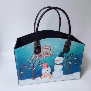 China Fashion Floral Bird Design Leather Fruit Basket Gift Basket for Women Fruit Storage Basket For Home on sale