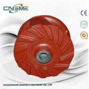 China 3- Vane Closed Gravel Pump Impeller Hard Metal ASTM A532 Material for Sand Slurry Pump 6 / 8 EG on sale
