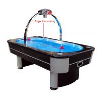 Quality 8FT Air Hockey Game Table Electronic Projection Scoring With Oval Blue Surface for sale