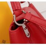 China Young Girl Top Clone LV handbag Red Genuine Leather ladies bag Soft Shoulder Bag for sale