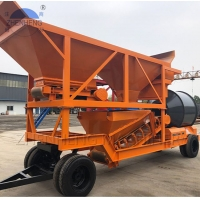 Wholesale Drum Mixer YHZM25m3 Portable Concrete Batching Plant Double Tyres from china suppliers