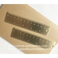 Wholesale Solid brass bookmark ruler with graduation, vintage brass mini ruler with scale mark from china suppliers