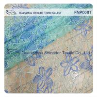 Buy cheap Polyster Nylon Lace Fabric of Mint Green with Pattern Floral from wholesalers