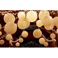 China Carved Round Hanging Paper Lanterns Indoor For Party Decoration for sale