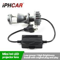 Wholesale IPHCAR New H4 Mini Led Projector Lens Plug and Play Led Headlight from china suppliers