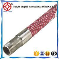 Wholesale 11  inch double spiral steel wire reinforced  PVC chemical composite marine oil delivery hose from china suppliers