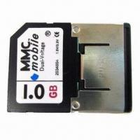 Wholesale MMC/Mobile Card, 1.8 and 3.3V Dual-voltage and 7Mbps Reading Speed for Mobile Phones from china suppliers