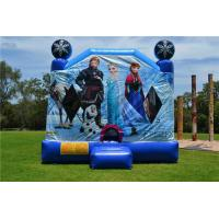 Wholesale OEM Printing Inflatable Bouncer Slide , Commercial Disney Frozen C4 Combo Jumping Castle from china suppliers