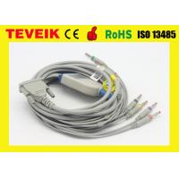 Buy cheap 10 leadwire Schiller AT3/AT6 EKG Cable. Banana 4.0 IEC without resistor from wholesalers