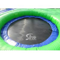 Quality Commercial grade adults big inflatable bossaball court with center trampolines for sale
