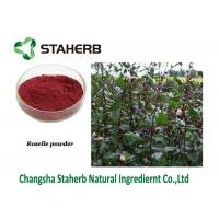 China Roselle Powder Pure Natural Plant Extracts , Hibiscus Sabdariffa Extract Contain Anthocyanidins Schisandrins on sale